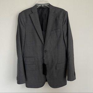 J. Lindeberg Loro Piana Grey Super 120 Wool Blazer